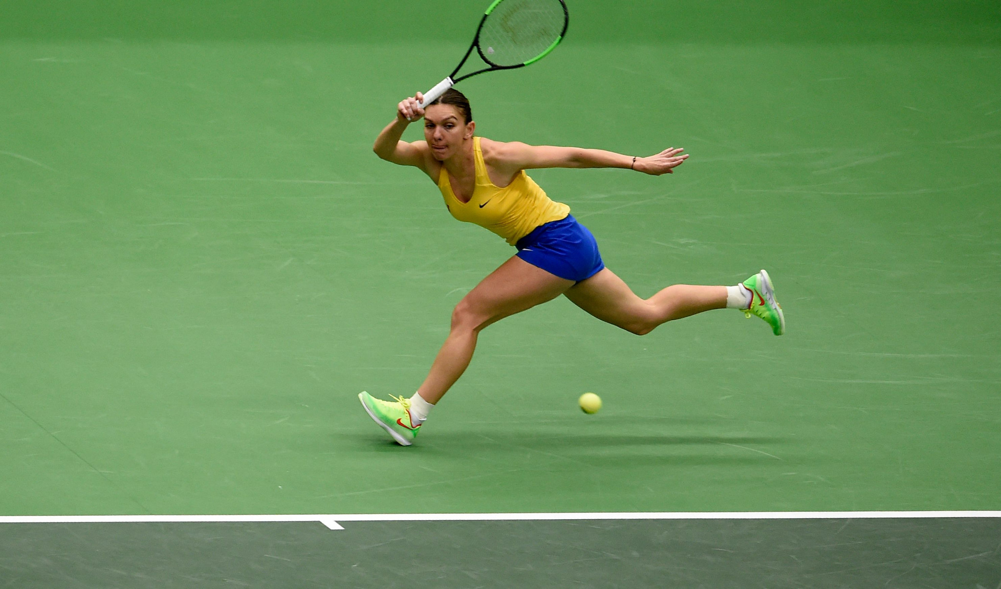 Simona Halep drew Romania level in their Fed Cup clash with the Czech Republic ©Getty Images