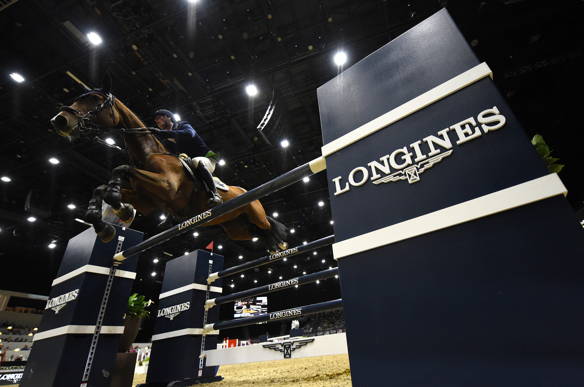 Germany's Daniel Deusser came out on top as the last Western European League stop on the FEI Jumping World Cup tour was held in Bordeaux today ©Getty Images