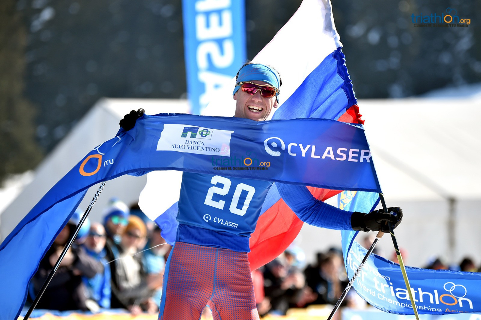 Andreev defends men's title again at ITU Winter Triathlon World Championships in Asiago