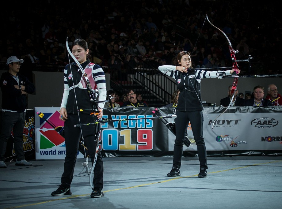 Sim Yeji won an all-South Korean women's recurve final against Kang Chae Young ©World Archery