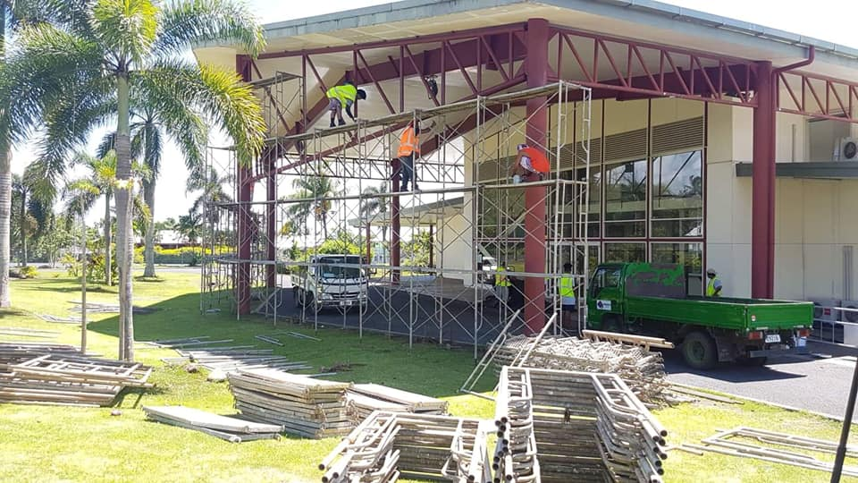Refurbishment of the Faleata Sports Complex is ongoing ©Samoa 2019