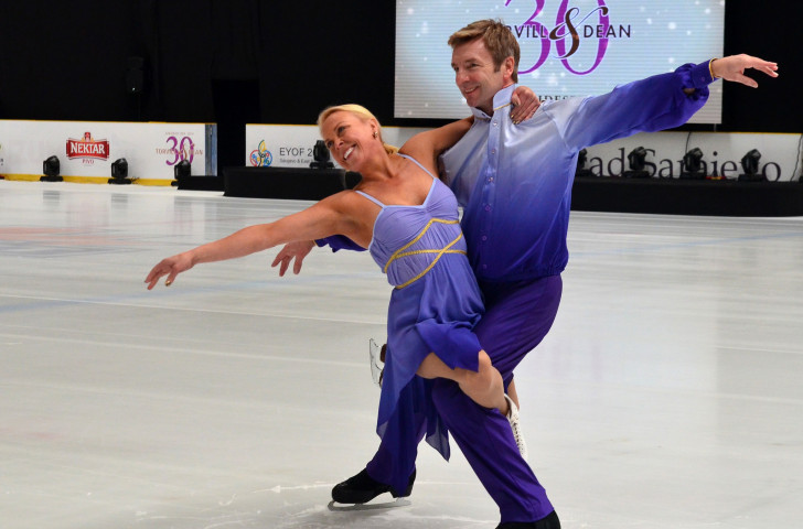 Britain's 1984 Olympic ice dance champions Jayne Torvill and Christopher Dean returned to the restored arena in which they had triumphed in Sarajevo to mark the 30th anniversary of those Games ©Getty Images