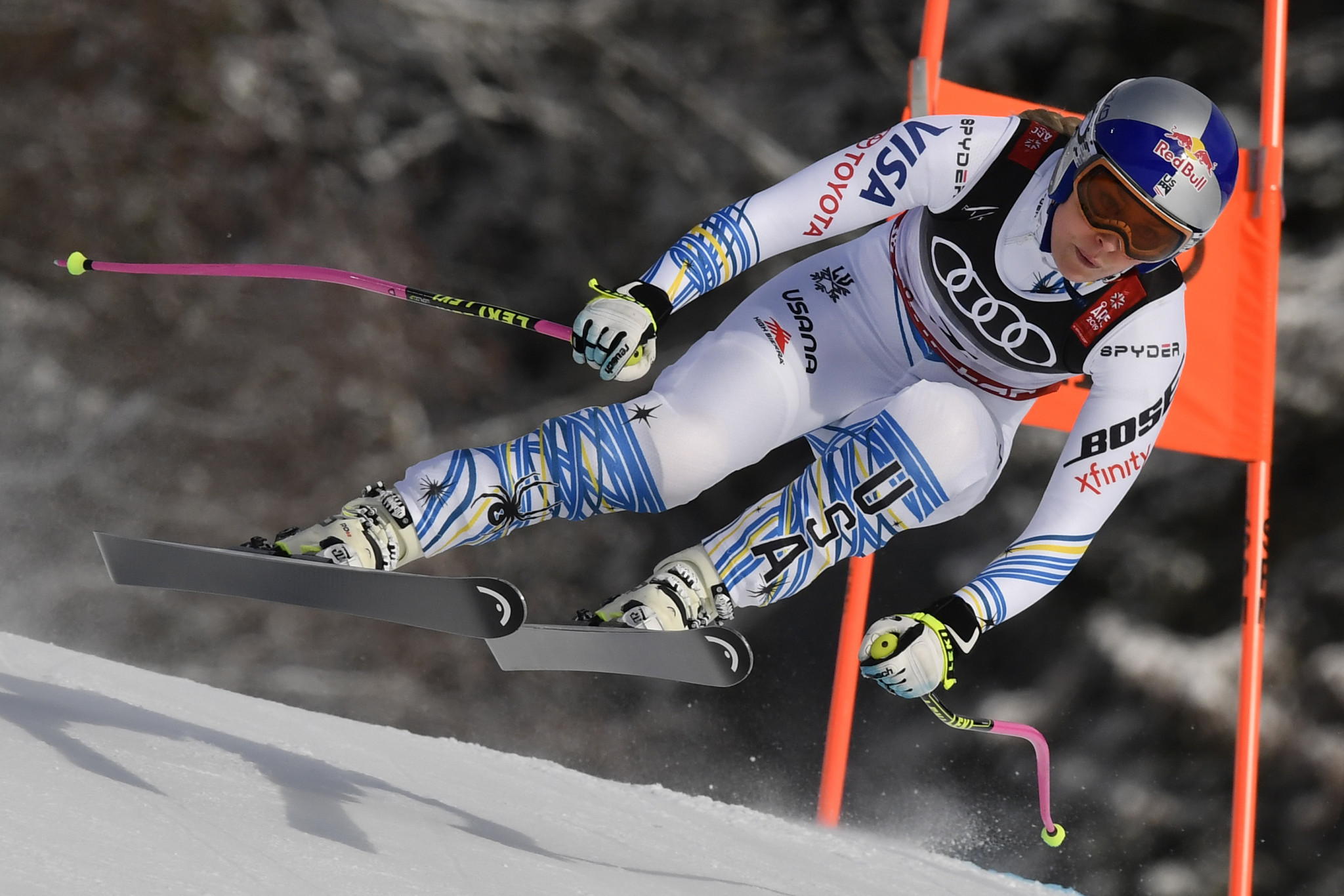 America's Lindsey Vonn ended her glittering career with a bronze medal ©Getty Images