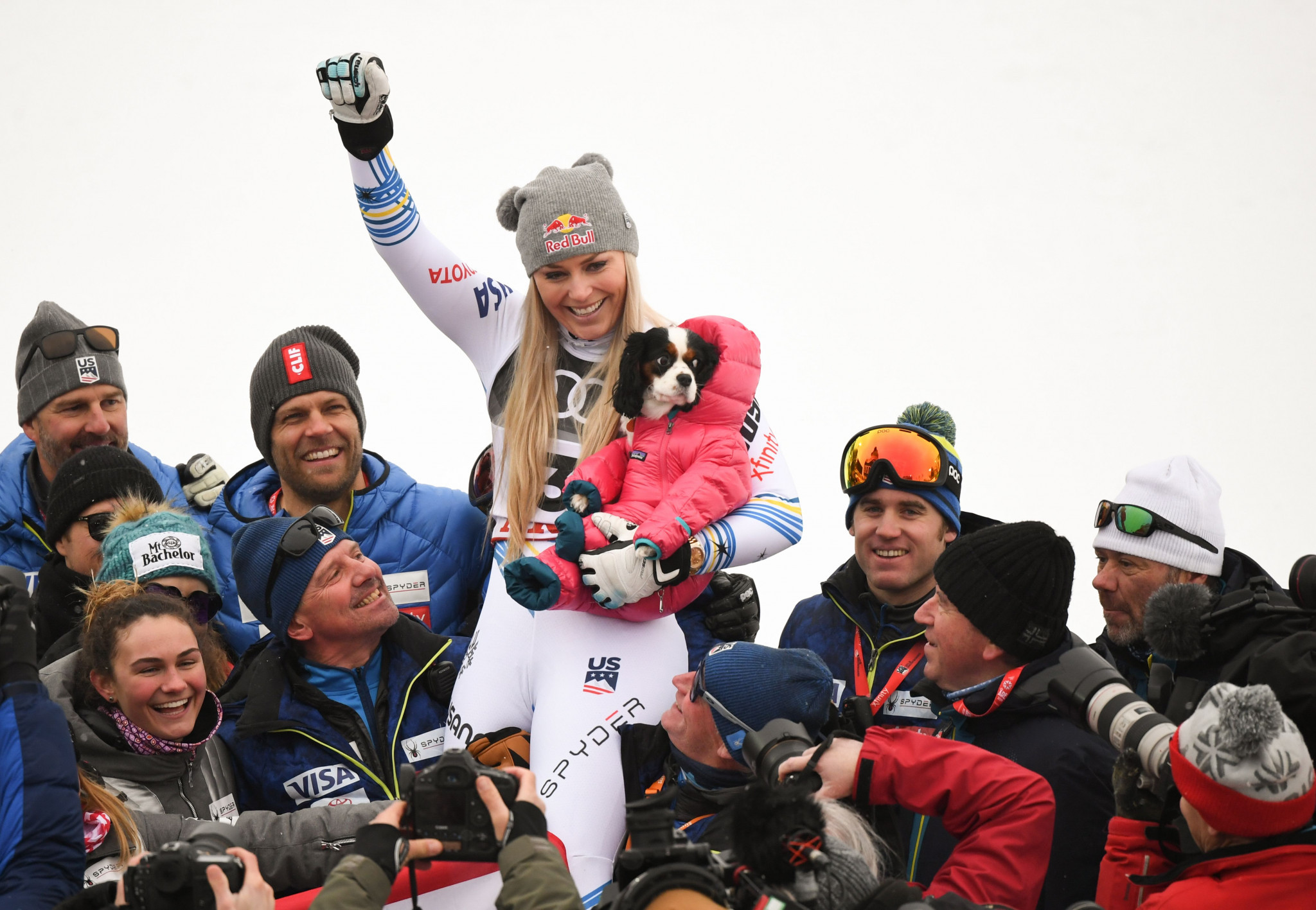 Lindsey Vonn concluded her career with a final podium finish ©Getty Images