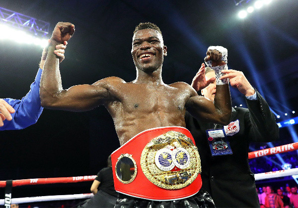 The Ghana Olympic Committee have sent a message of congratulations to Richard Oblitey Commey after he was crowned IBF lightweight world champion ©Top Rank