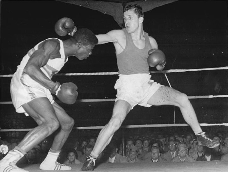 Boxing is Ghana's most successful Olympic sport, with Clement Quartey, left, among three fighters from the country to have won a medal in the sport, a silver in the light welterweight category at Rome 1960 ©Wikipedia