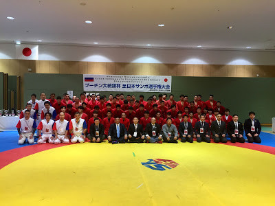 Medals were decided across 13 weight categories today at the Japan Sambo Championships and Russian President's Cup ©JSF