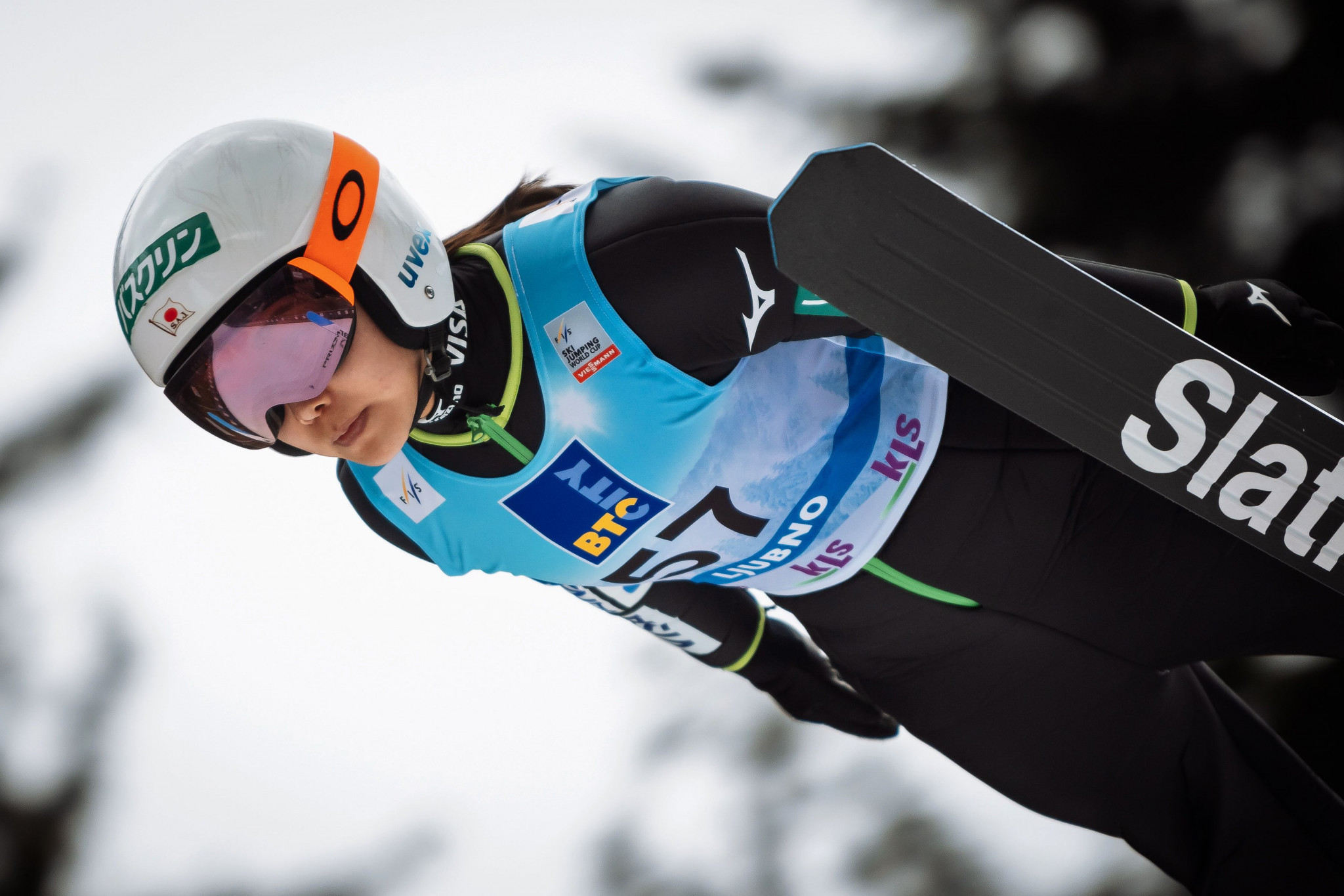 Japan's Sara Takanashi ended Olympic champion Maren Lundby's run of dominance in the FIS Ski Jumping World Cup with victory in Ljubno today ©Getty Images