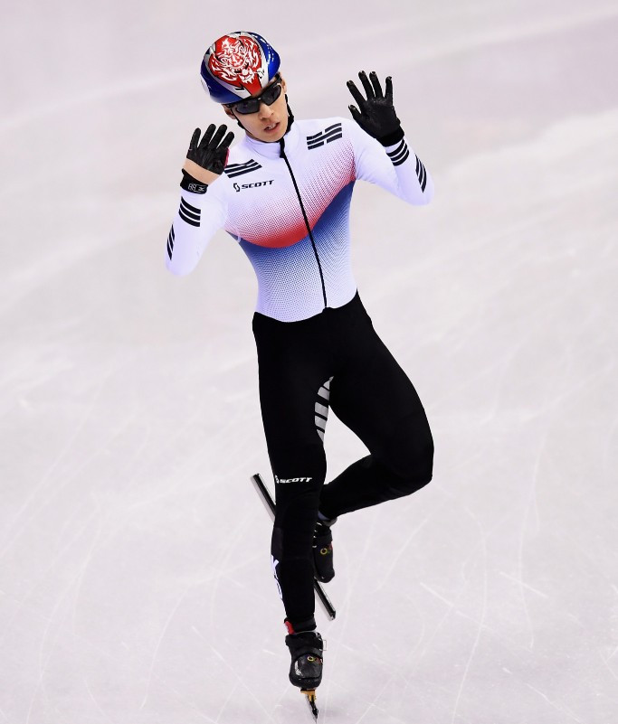South Korea's Hwang Dae-heon tasted success over a second distance as the final leg of the International Skating Union Short Track World Cup season concluded in Turin ©Getty Images