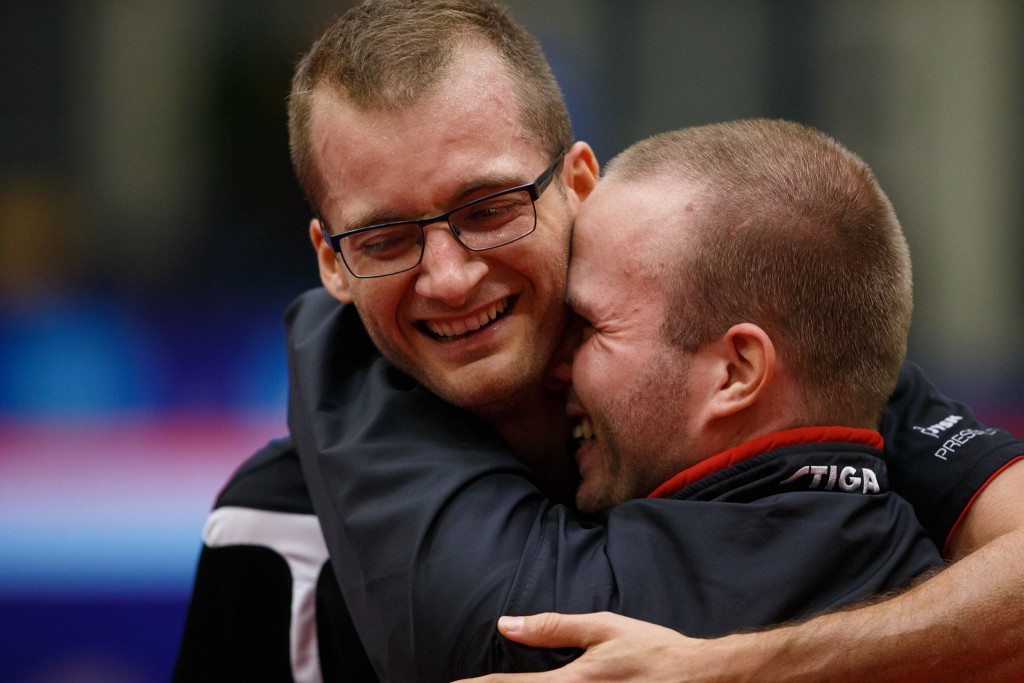 Denmark's Peter Rosenmeier and Michal Spicker won their semi-final match in front of a home crowd