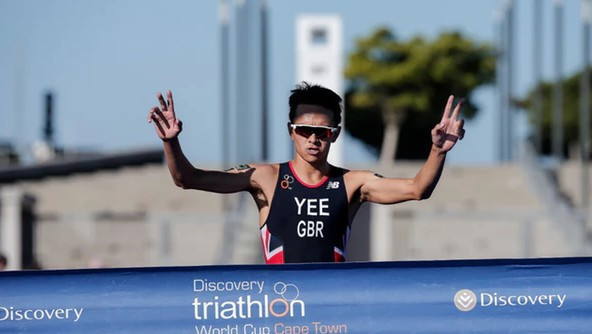 Britain's Alex Yee triumphed in the men's race in the opening ITU World Cup race of the year in Cape Town ©ITU
