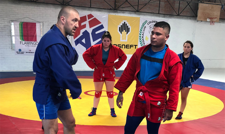 Cali hosts two week sambo training camp for Pan American athletes