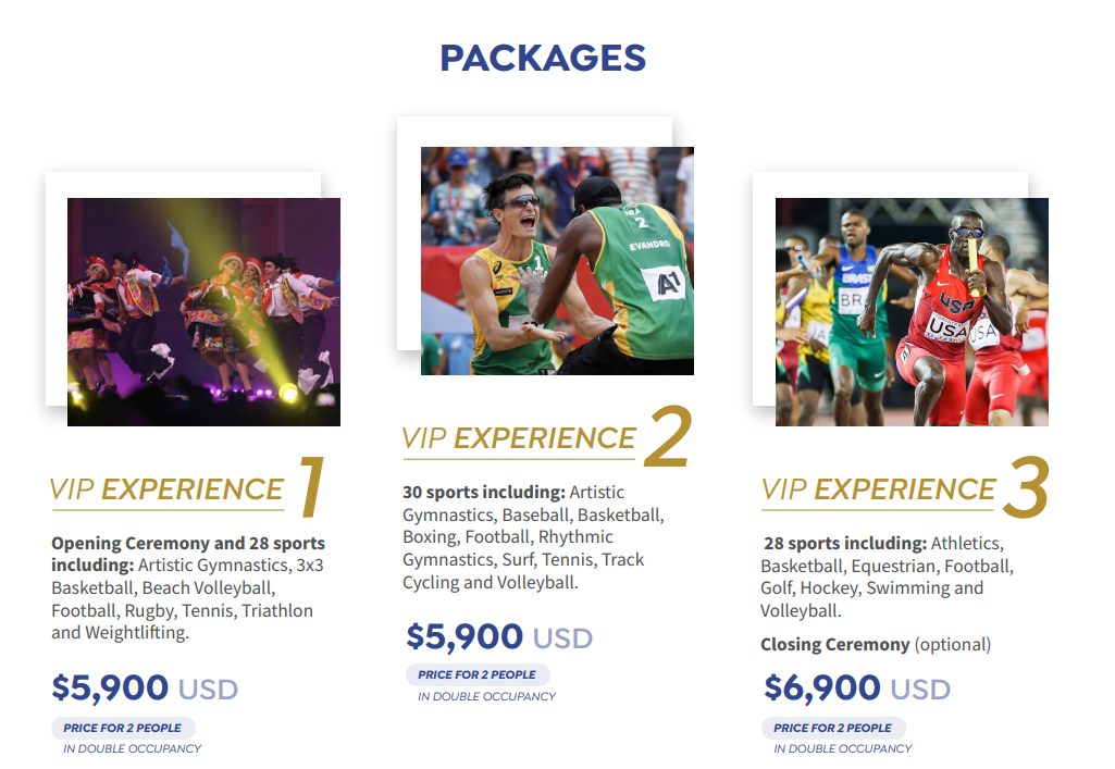 Three VIP experiences are available for the Lima 2019 Pan American Games ©Panam Sports