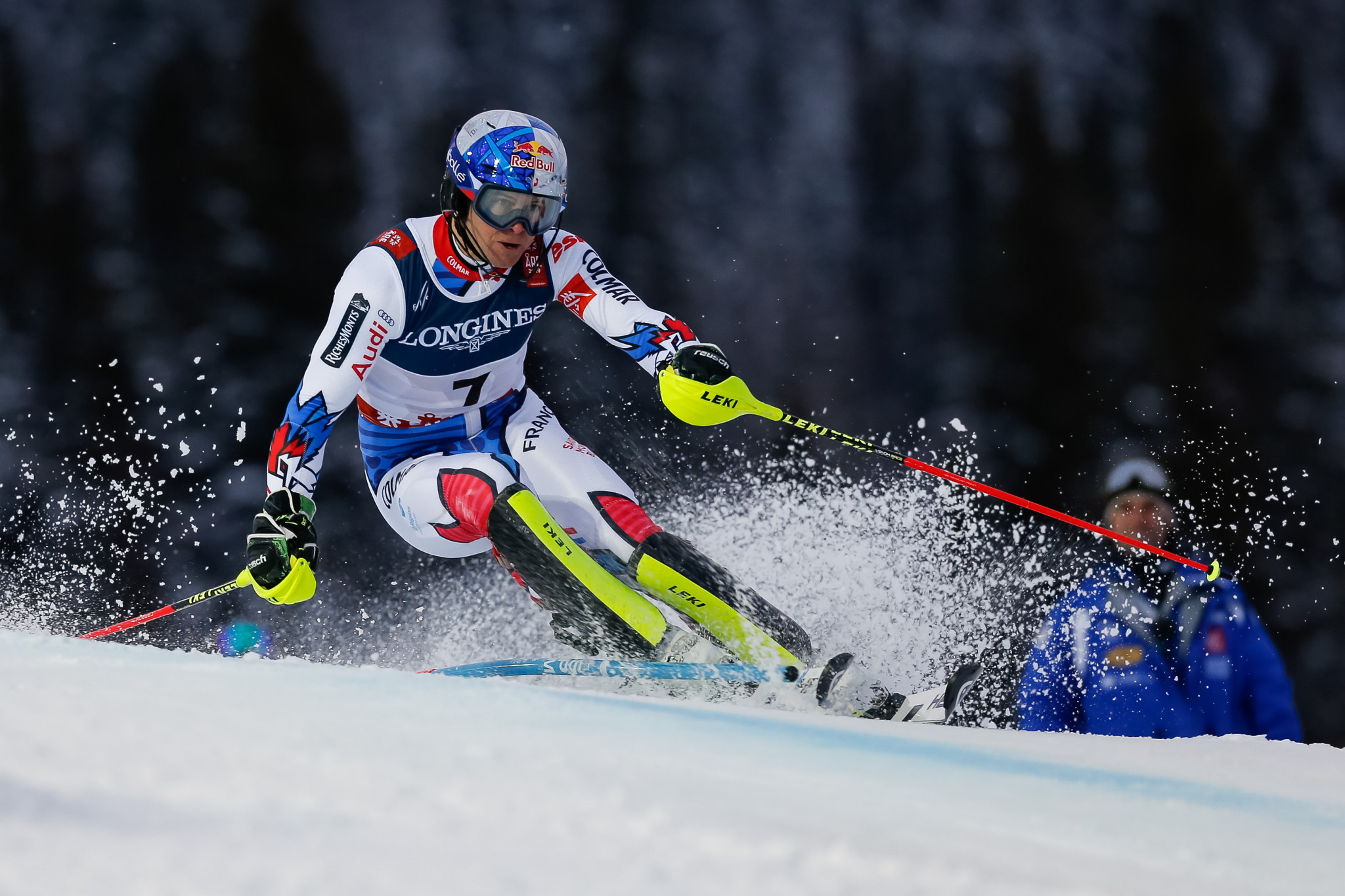 Alexis Pinturault used his slalom skill to move into gold medal position ©Getty Images