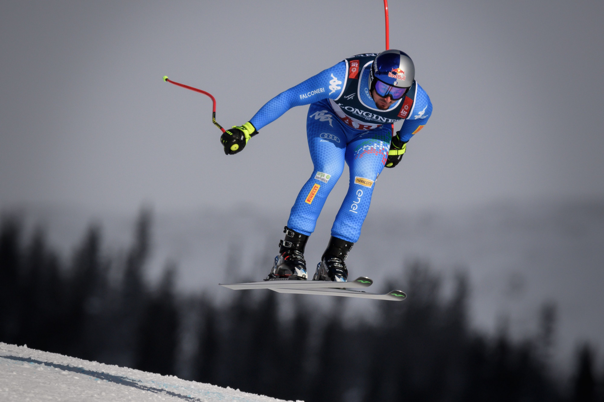 Italy's Dominik Paris led after the downhill stage of the event ©Getty Images