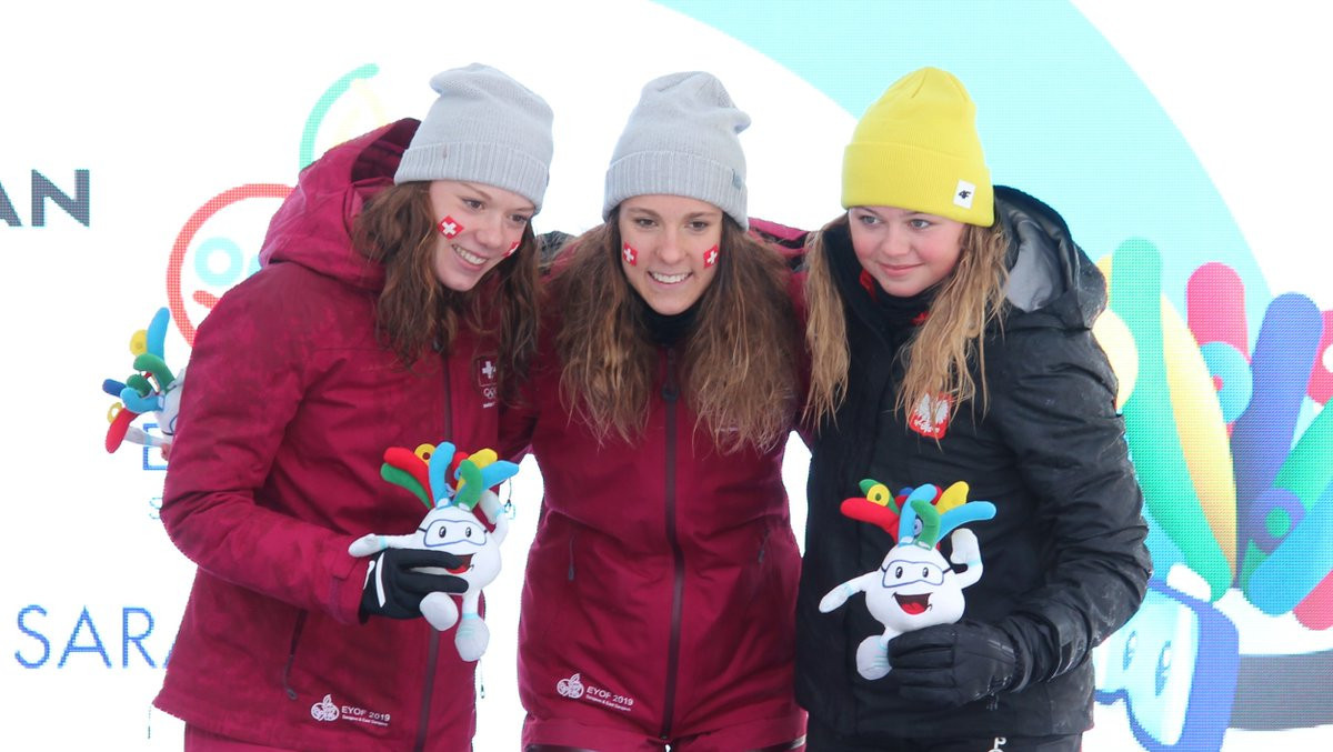 Swiss cross-country skier Anja Weber tasted victory on the first day of the 2019 Winter EYOF in Sarajevo and East Sarajevo ©Swiss Olympic Team/Twitter