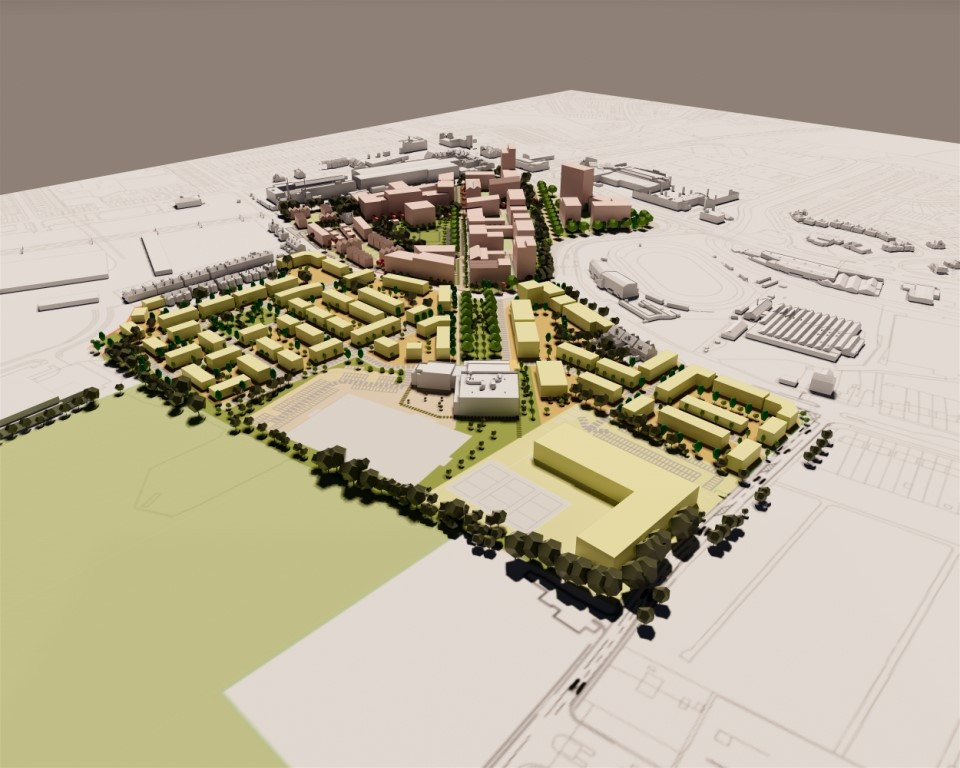 Proposals for around 400 new homes have been unveiled for the second phase of the regeneration of Perry Barr following the conclusion of the 2022 Commonwealth Games in Birmingham ©Birmingham City Council
