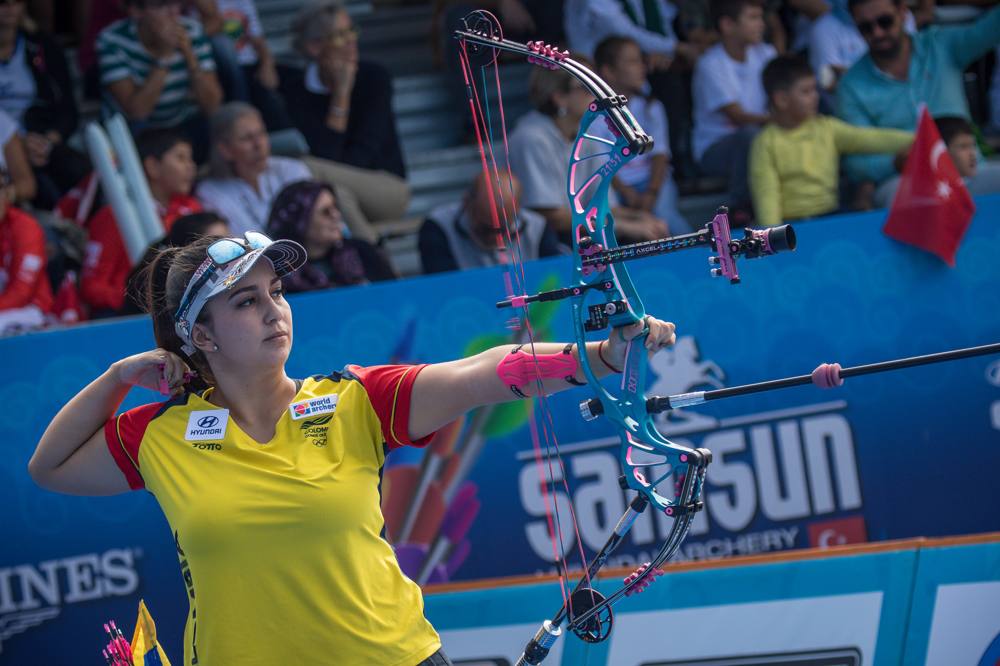 Sara Lopez claimed the women's compound archer prize for the fourth straight year ©Getty Images