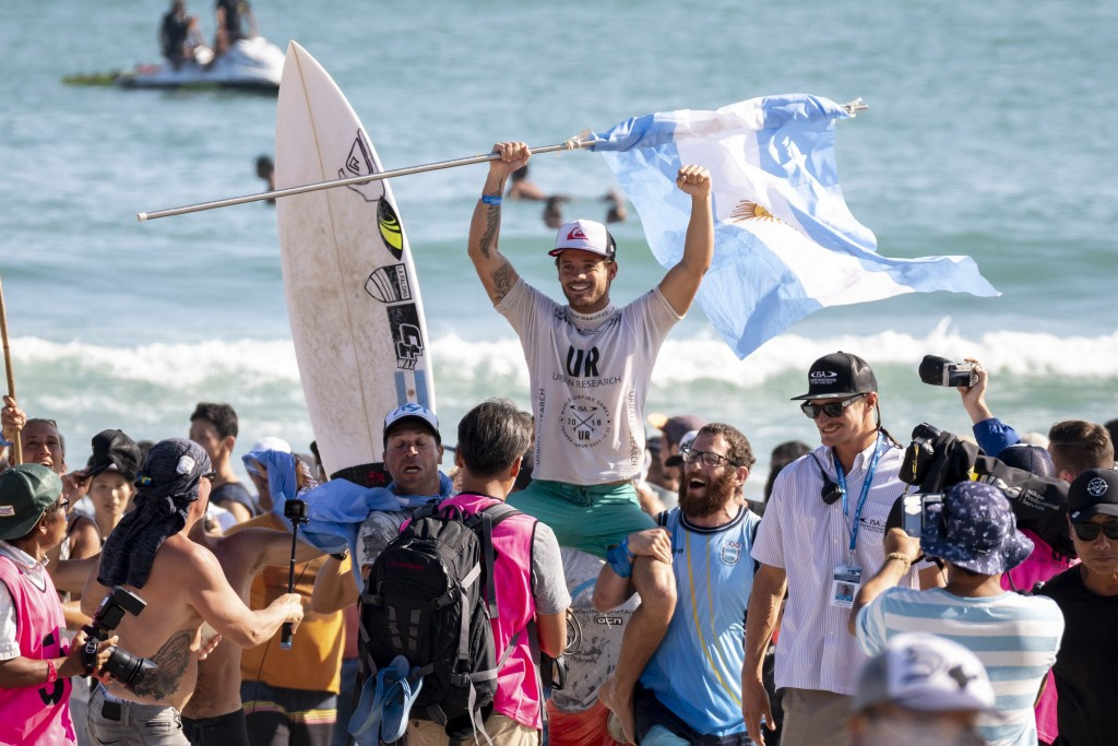 Argentina's Santiago Muñiz, the 2018 World Surfing Games gold medallist, is among the athletes set to compete at the Pan American Games ©ISA