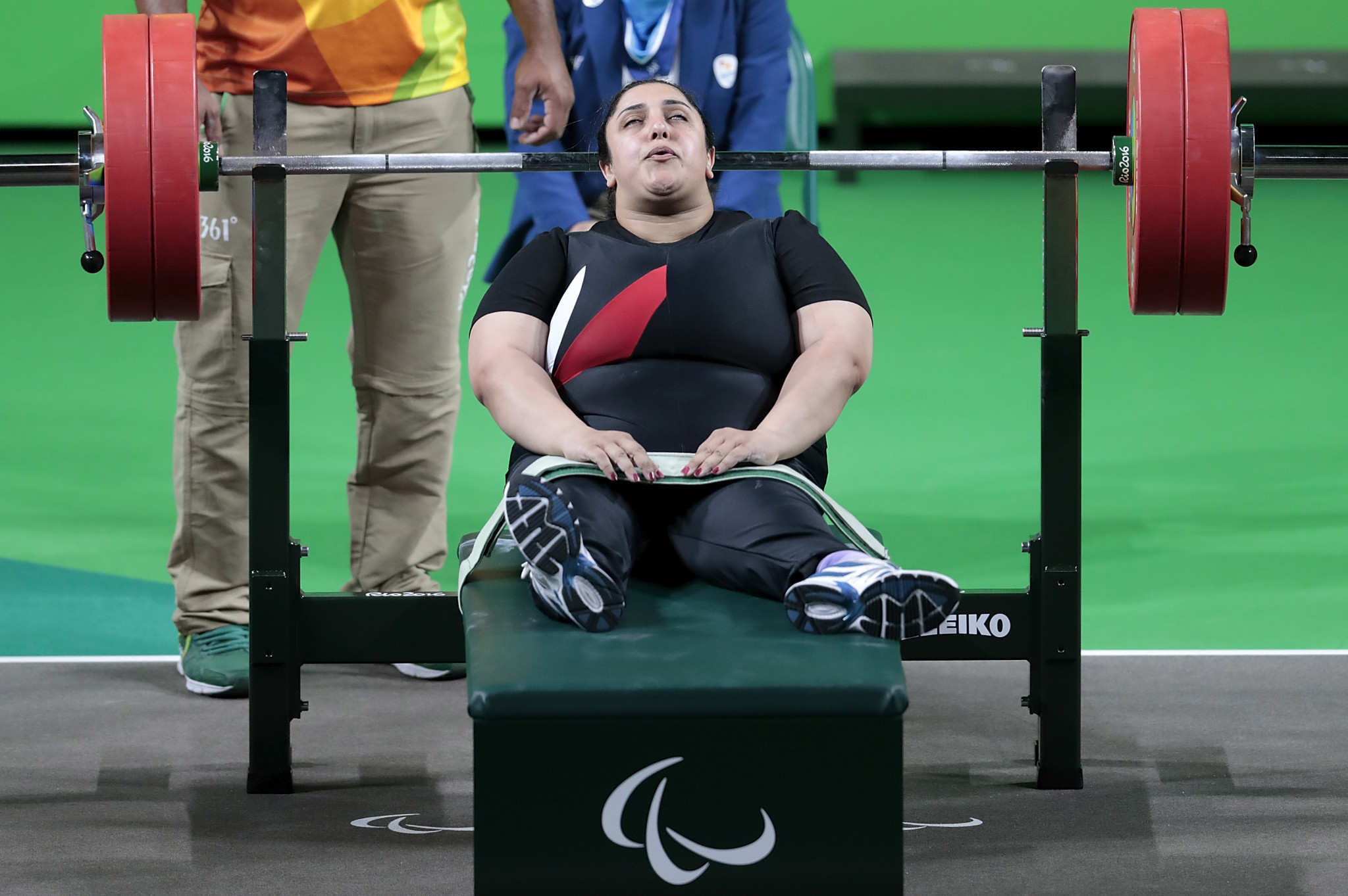 Paralympic champion Randa Mahmoud clinched the gold medal in the women's over-86 kilograms event in Dubai ©Getty Images