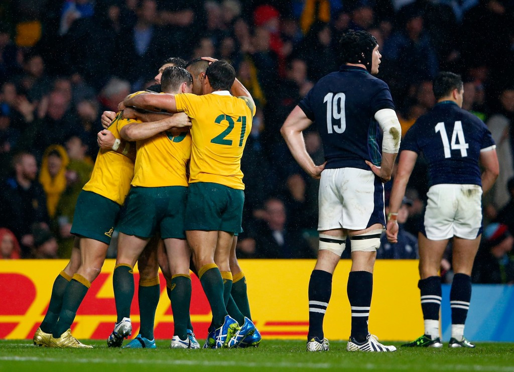 Australia and Argentina reach Rugby World Cup semi-finals to rubber stamp Southern Hemisphere dominance