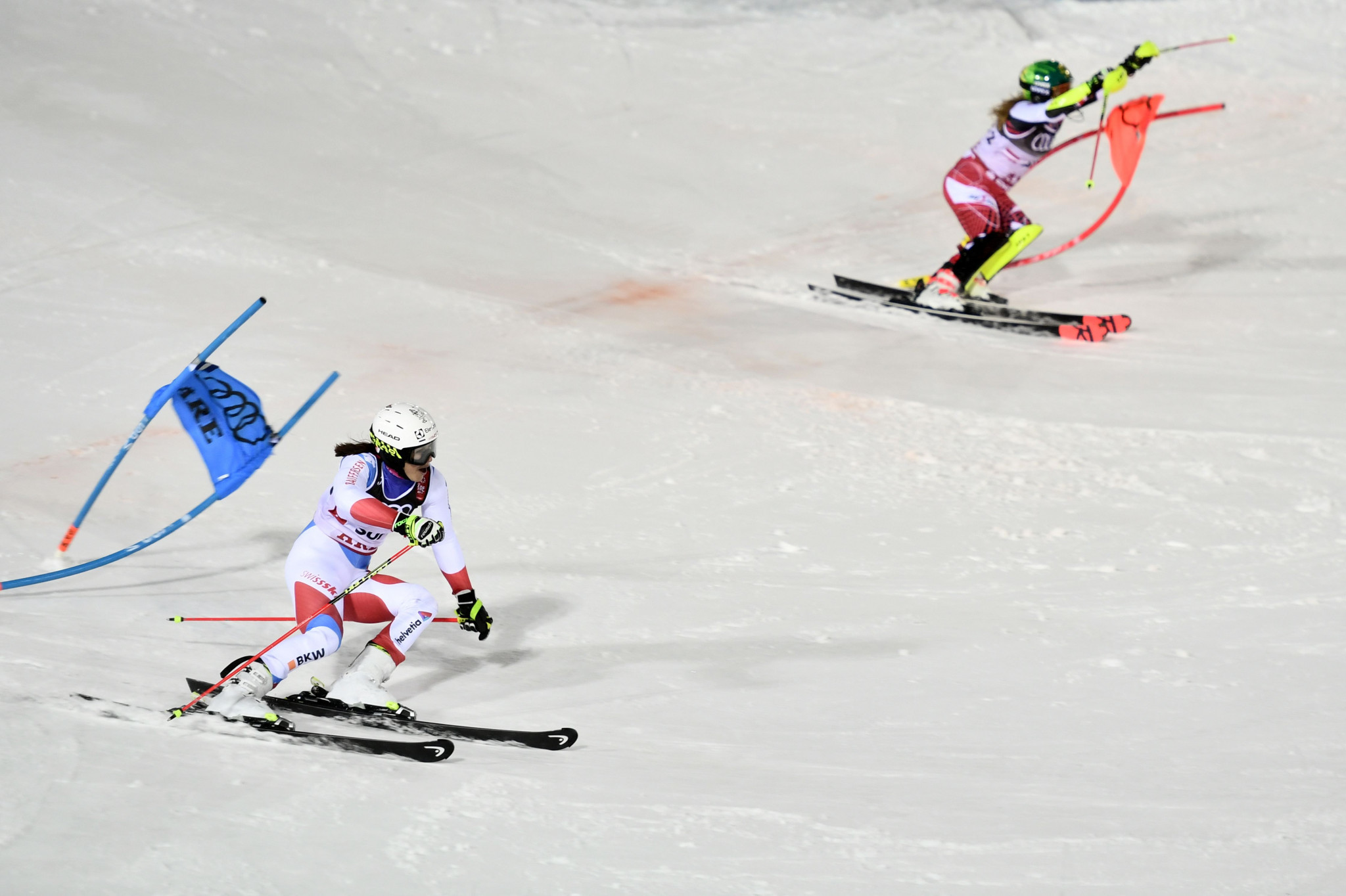 Switzerland defeated Austria in the final of the parallel slalom competition ©Getty Images