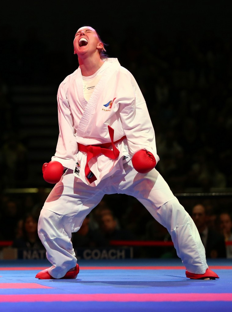 France's Alizee Agier triumphed in the women's kumite under 68kg category