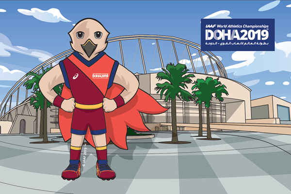 Falah the falcon unveiled as mascot for 2019 IAAF World Athletics Championships in Doha