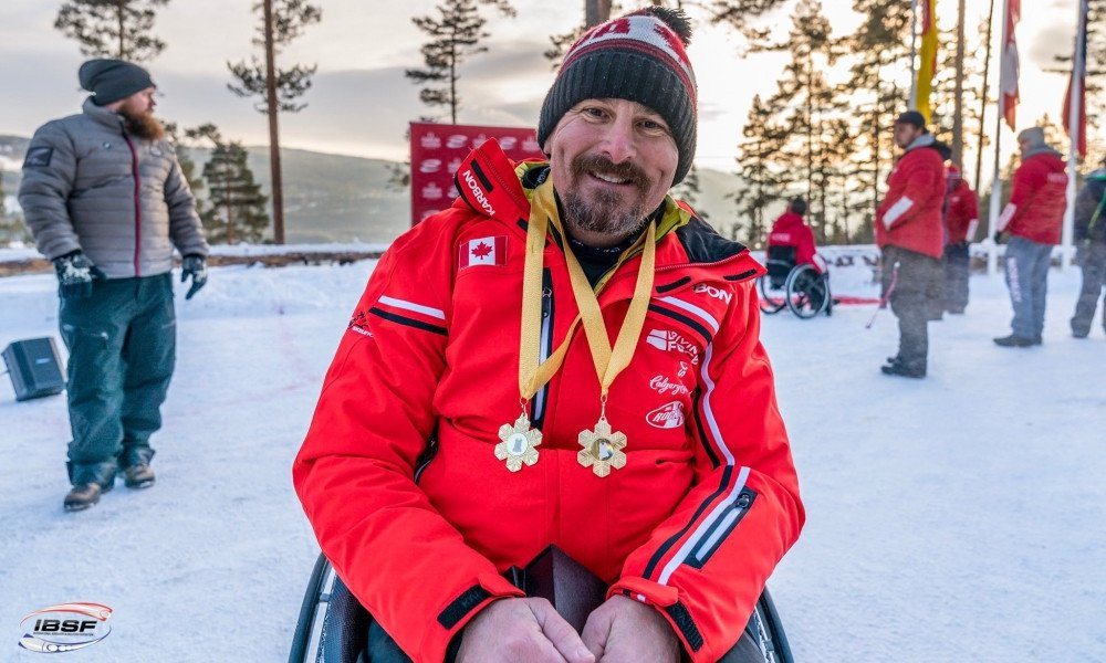 Canada's Lonnie Bissonnette will aim to seal top spot in the IBSF Para Sport World Cup standings when the season reaches its climax in St Moritz over the coming two days ©IBSF