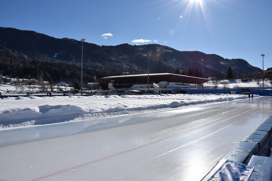 The outdoor rink in Baselga Di Piné will host the action over three days ©ISU