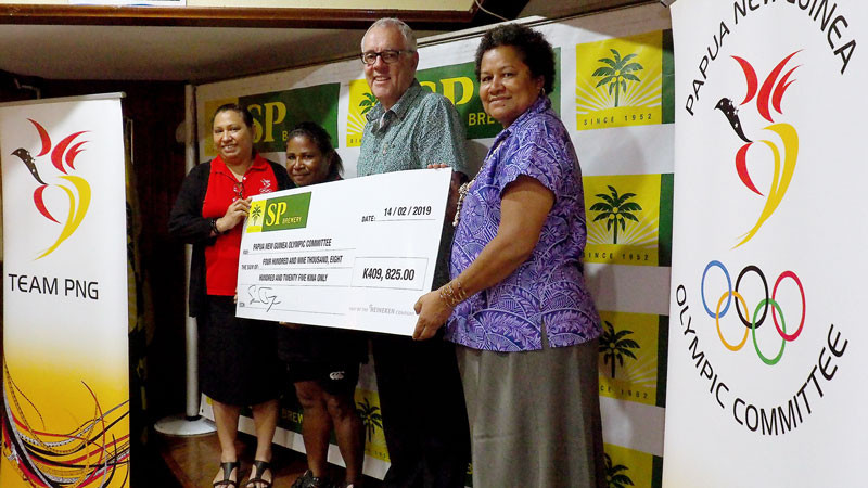 The Papua New Guinea Olympic Committee has renewed its partnership with SP Brewery ©PNGOC