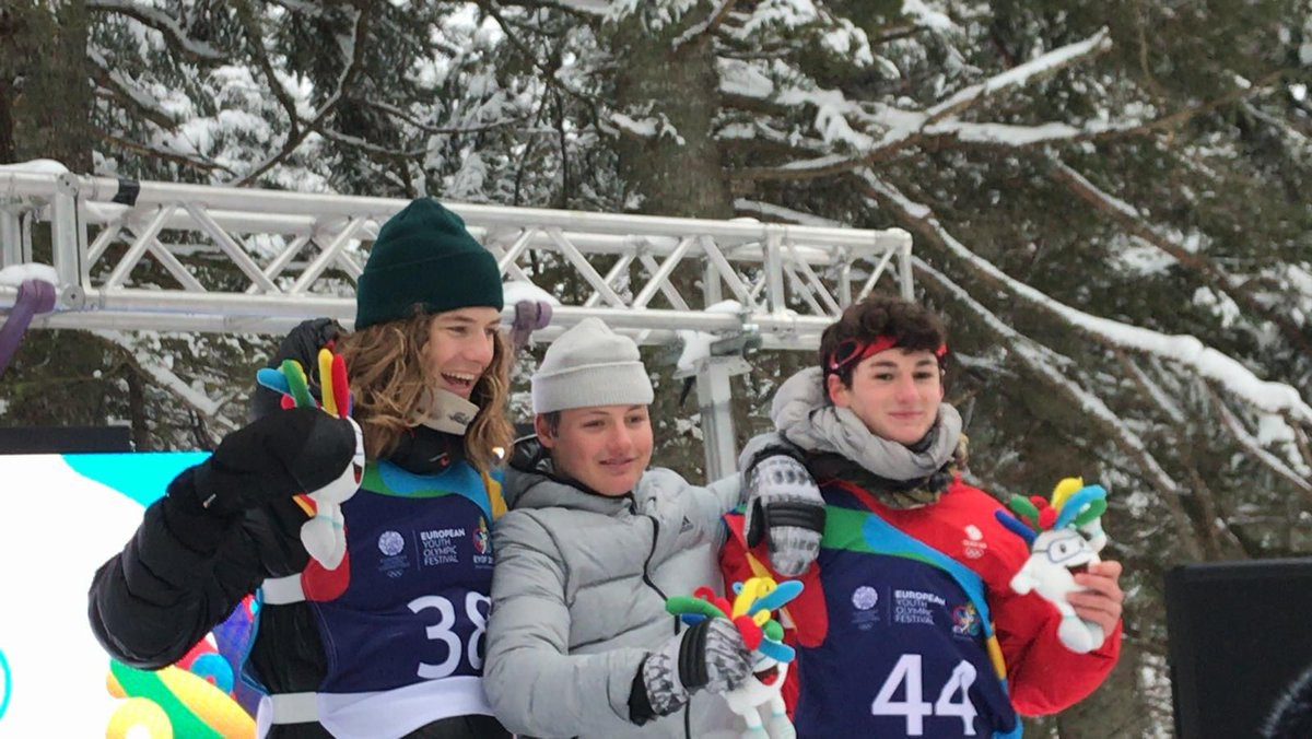 Double gold for Switzerland in snowboard big air at Winter European Youth Olympic Festival