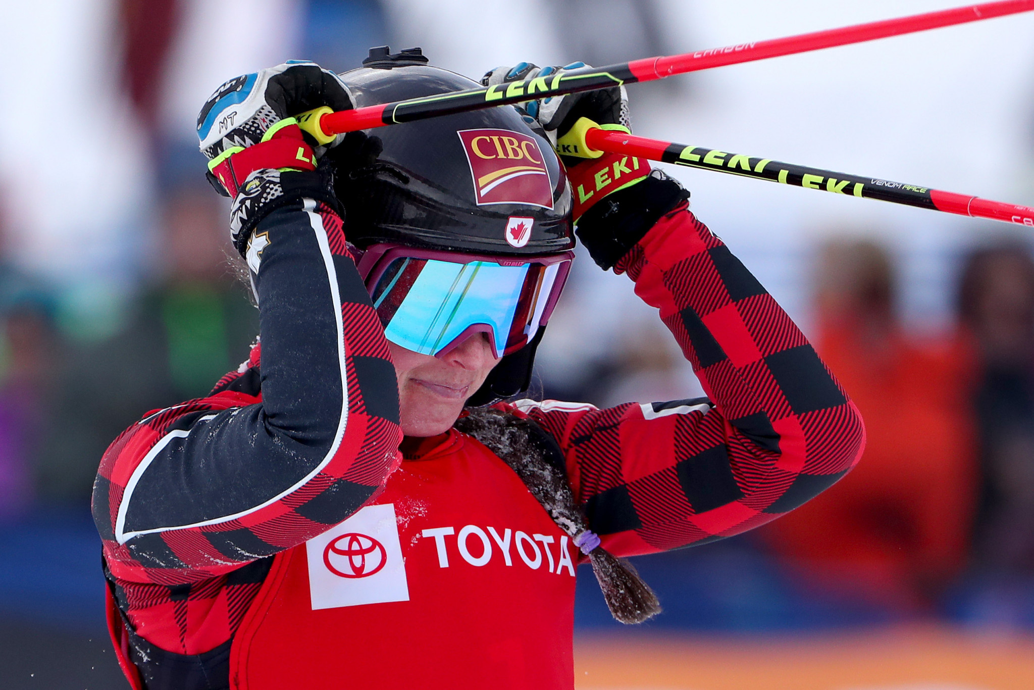 Newly crowned world champion Marielle Thompson of Canada could only finish second in the women's qualifying at the FIS Ski Cross World Cup in Feldberg ©Getty Images