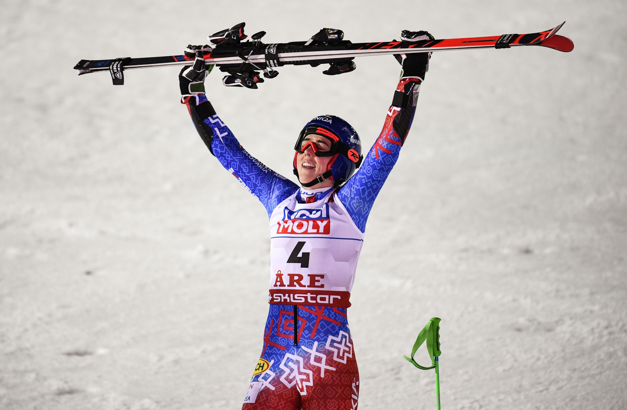 Petra Vlhova won the women's giant slalom at the World Alpine Skiing Championships in Åre to claim her first world gold ©Getty Images