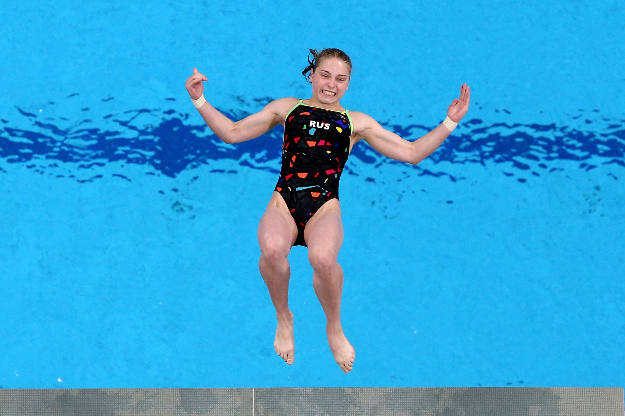 Anna Chuinyshena of Russia led the way in the women's 10m platform preliminary round ©Getty Images