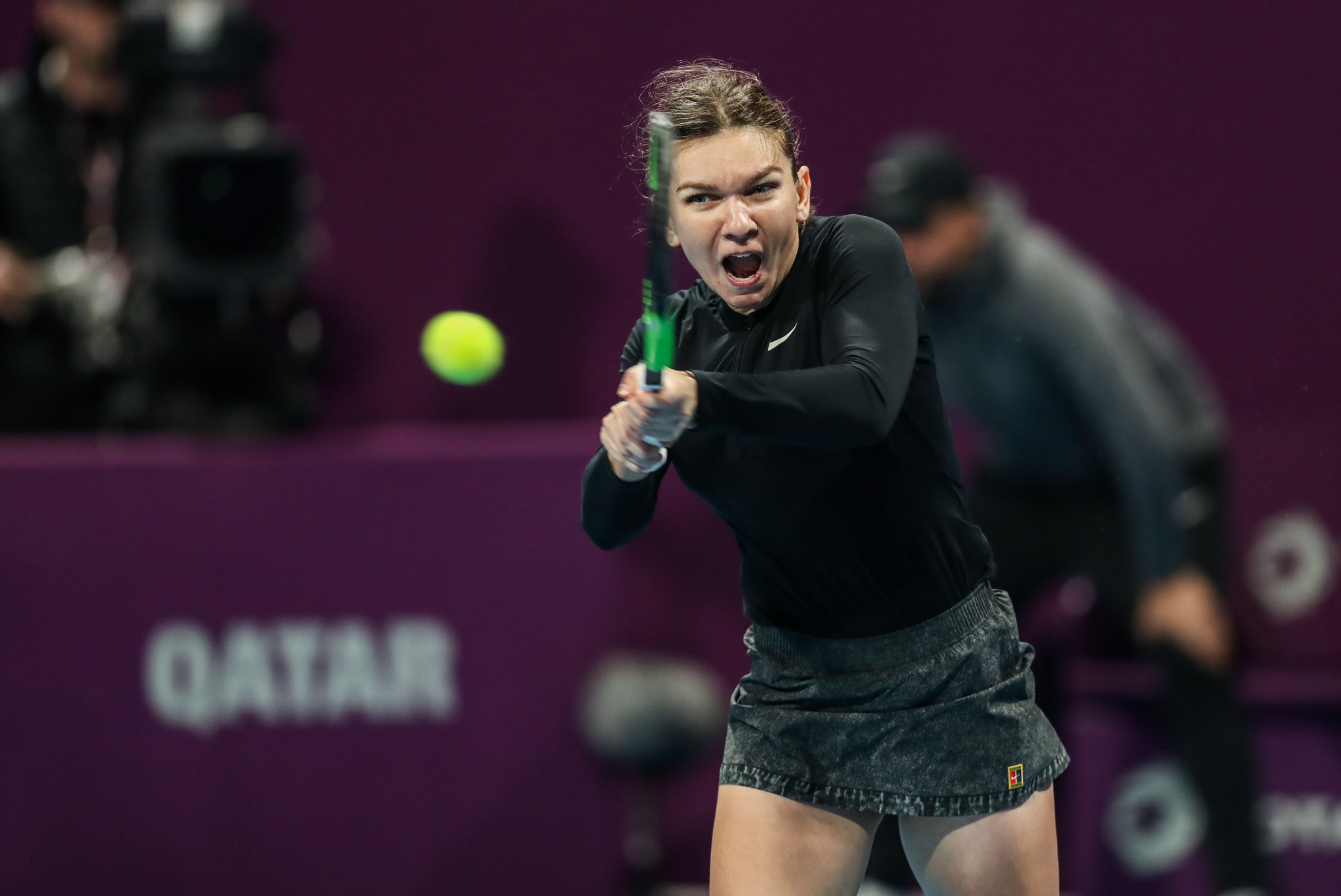 Romania's Simona Halep won her quarter-final at the WTA Qatar Open to progress to the semi-final ©Getty Images