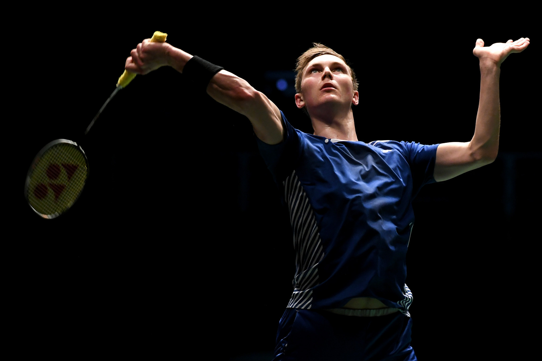Viktor Axelsen helped Denmark beat The Netherlands today at the European Badminton Mixed Team Championships ©Getty Images