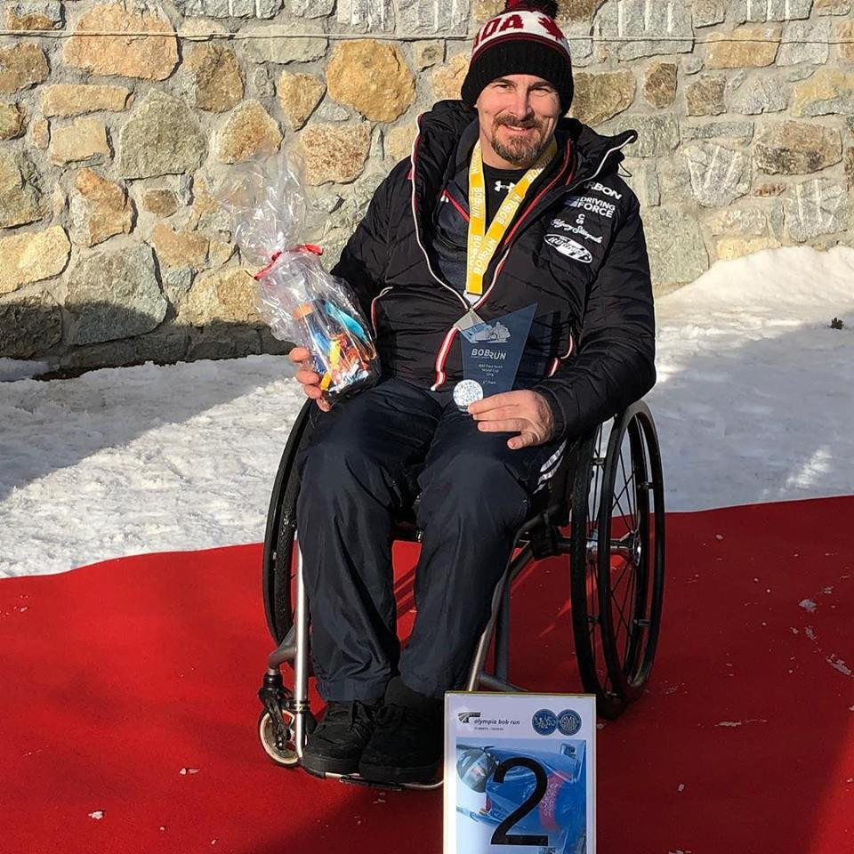 Canada's Lonnie Bissonnette won the overall International Bobsleigh and Skeleton Federation Para Sport World Cup title ©Lonnie Bissonnette/Facebook