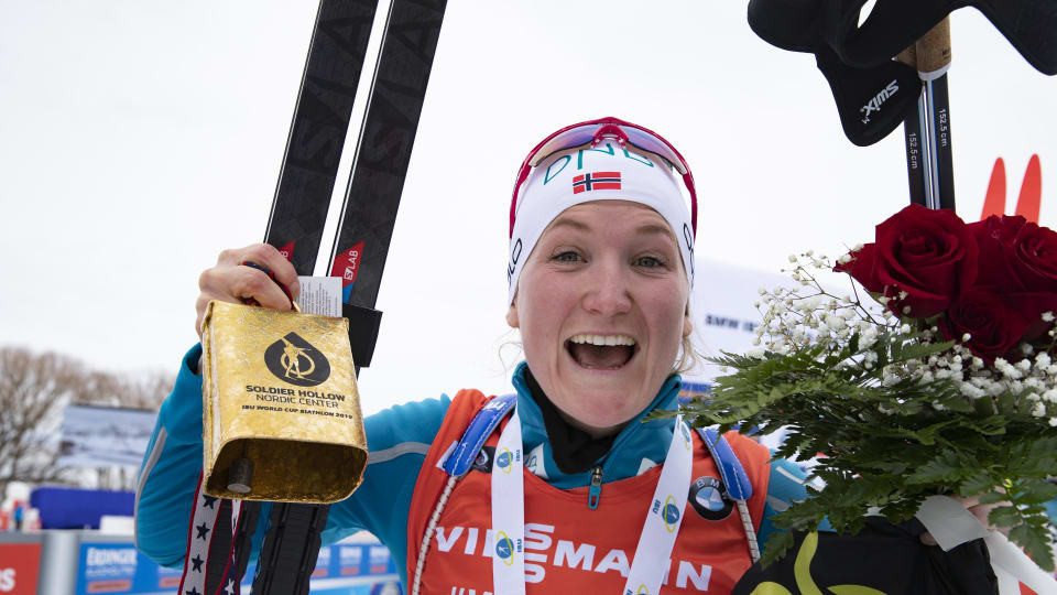 Norway's Marte Olsbu Røiseland won the women's sprint at the first IBU World Cup in Salt Lake City for 17 years ©IBU