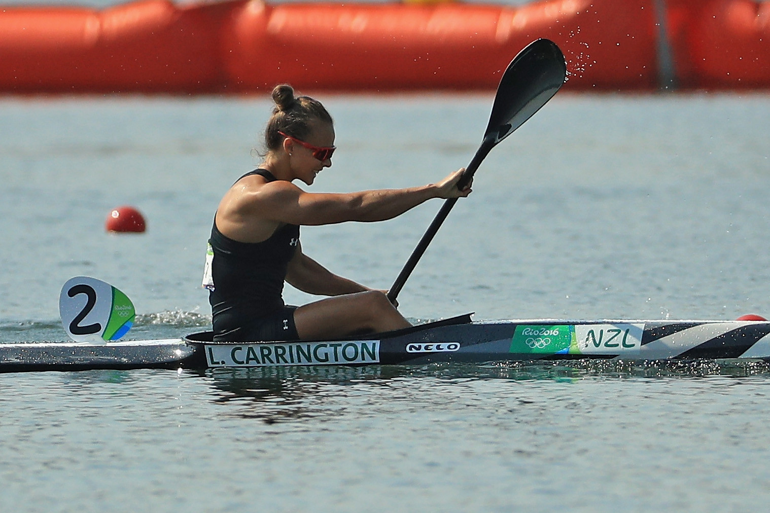 Double Olympic champion Lisa Carrington of New Zealand topped the qualifiers for the women's K1 200m event at the ICF Oceania Canoe Sprint Championships, with the final tomorrow ©Getty Images