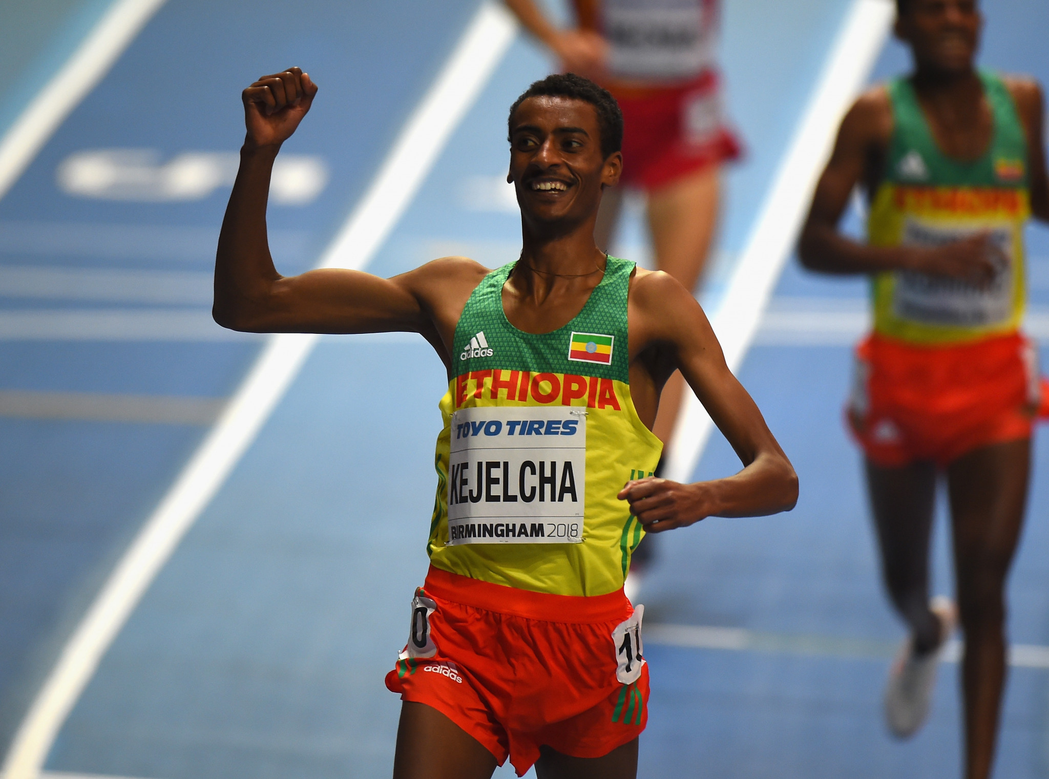 Ethiopia's Yomif Kejelcha will return to Birmingham with the potential to break the men's indoor 1500m world record set by Morocco's Hicham El Guerrouj in 1997 ©Getty Images