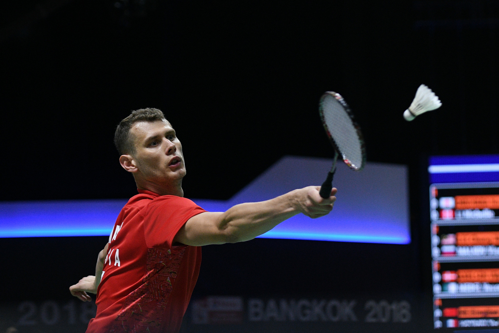 Vladimir Malkov helped Russia advance into the semi-finals with a 4-1 win over Ireland at the European Mixed Team Badminton Championships in Denmark ©Getty Images