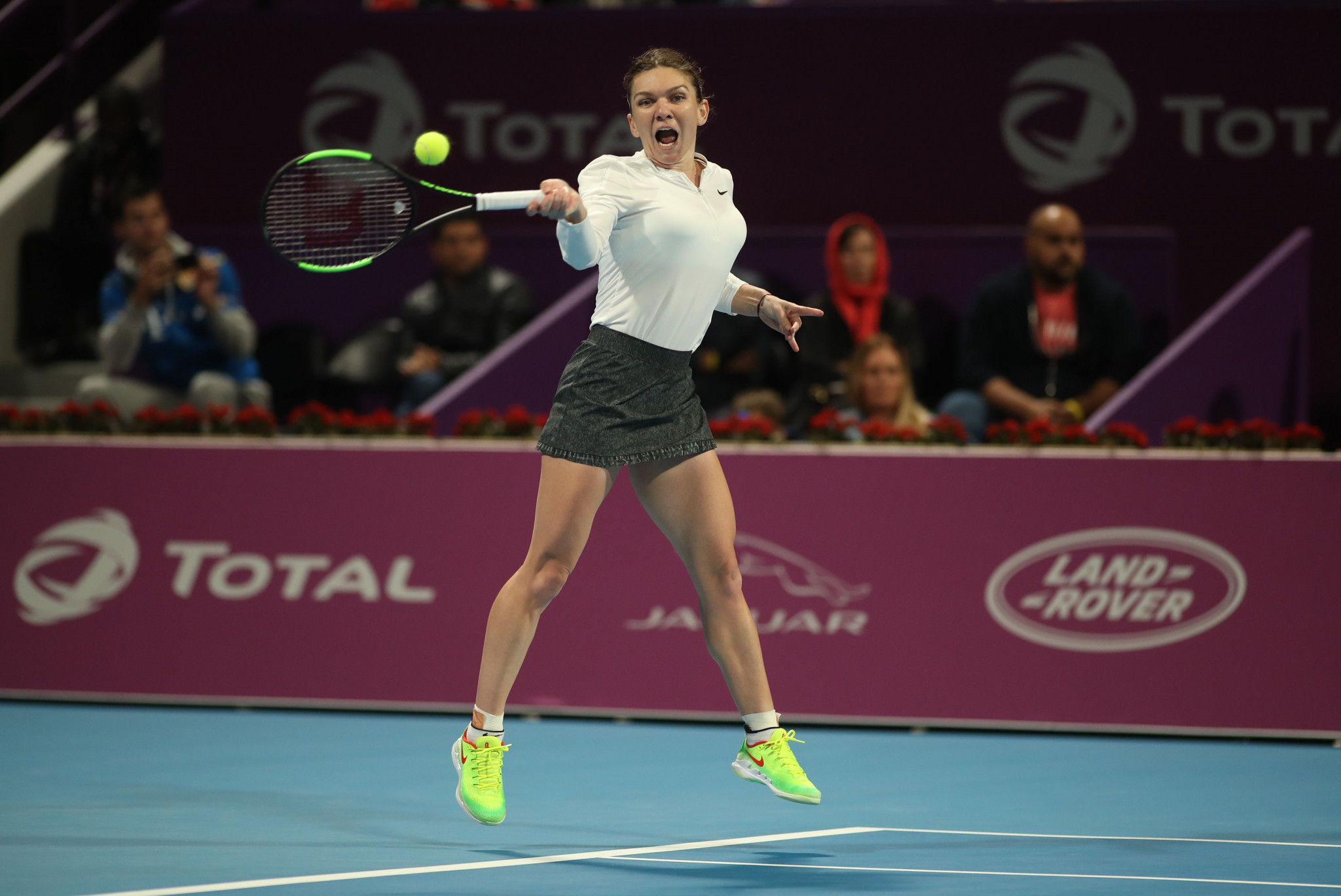 Top seed Simona Halep of Romania progressed to the final of the WTA Qatar Open after winning her semi-final today ©Getty Images