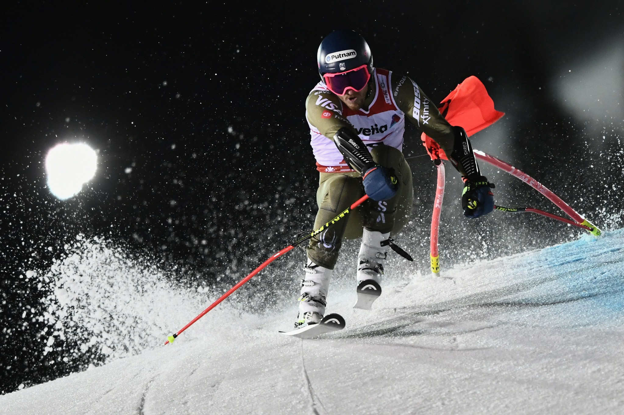 The United States' Ted Ligety fell short in his bid for a record-extending fourth giant slalom world title, coming 11th ©Getty Images