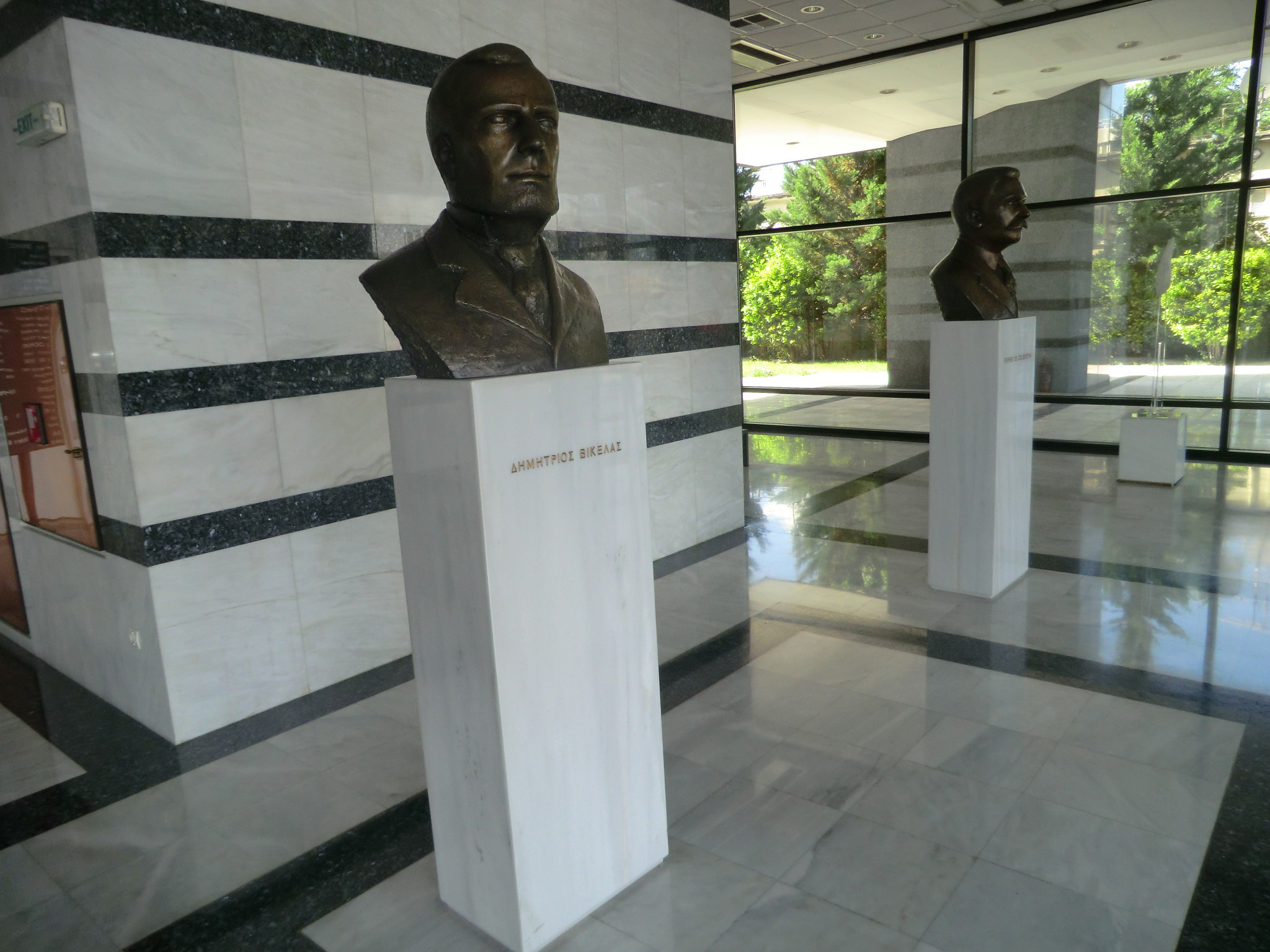 A bust of Dimitrios Vikelas sits in the Hellenic Olympic Committee which is located in a road named after him ©ITG