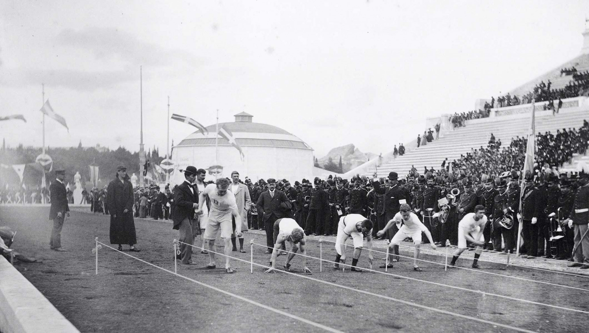 All the competitors at Athens 1896 were men after Dimitrios Vikelas drew attention to the fact that this was how it was during the anicent Olympic Games ©Getty Images