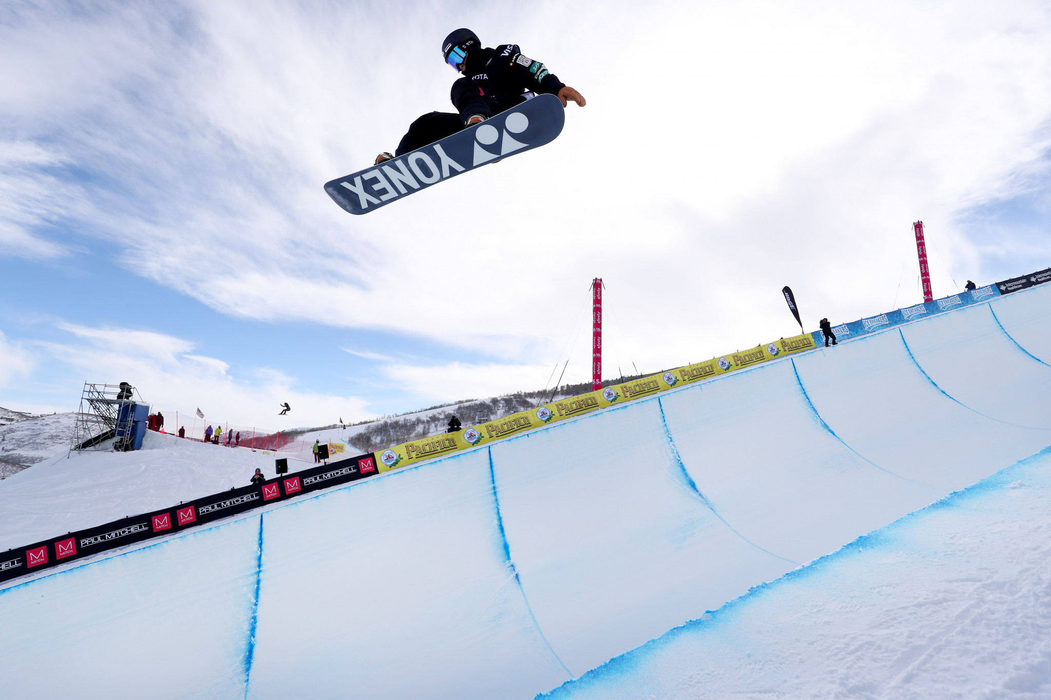 Yuto Totsuka triumphed in the men's halfpipe event at the FIS Snowboard World Cup in Calgary ©Getty Images
