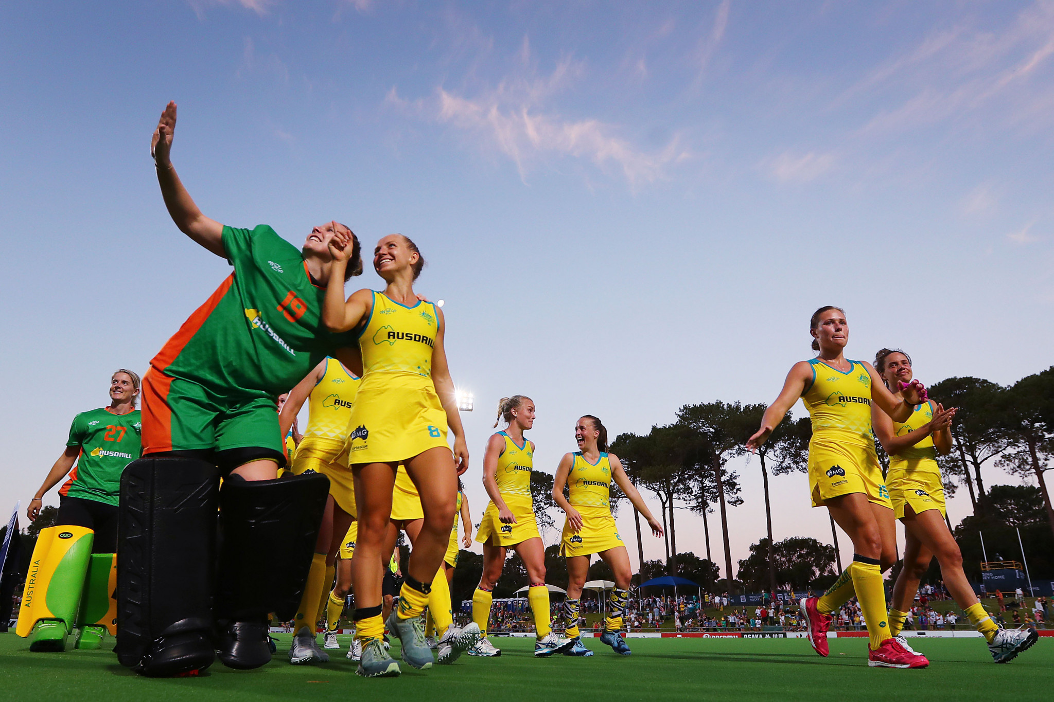 Australia's men and women both saw off Great Britain today in the FIH Pro League ©Getty Images