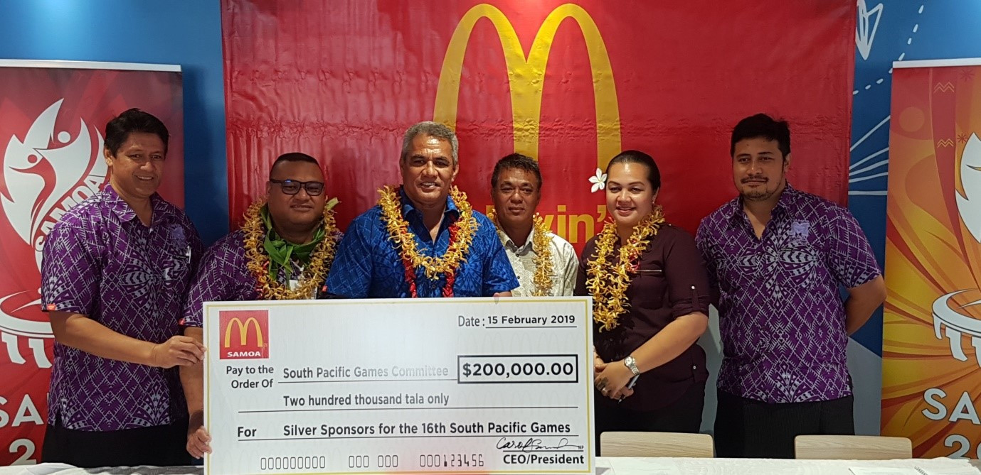 Samoa 2019 boosted by sponsorship agreement with McDonald's for Pacific Games