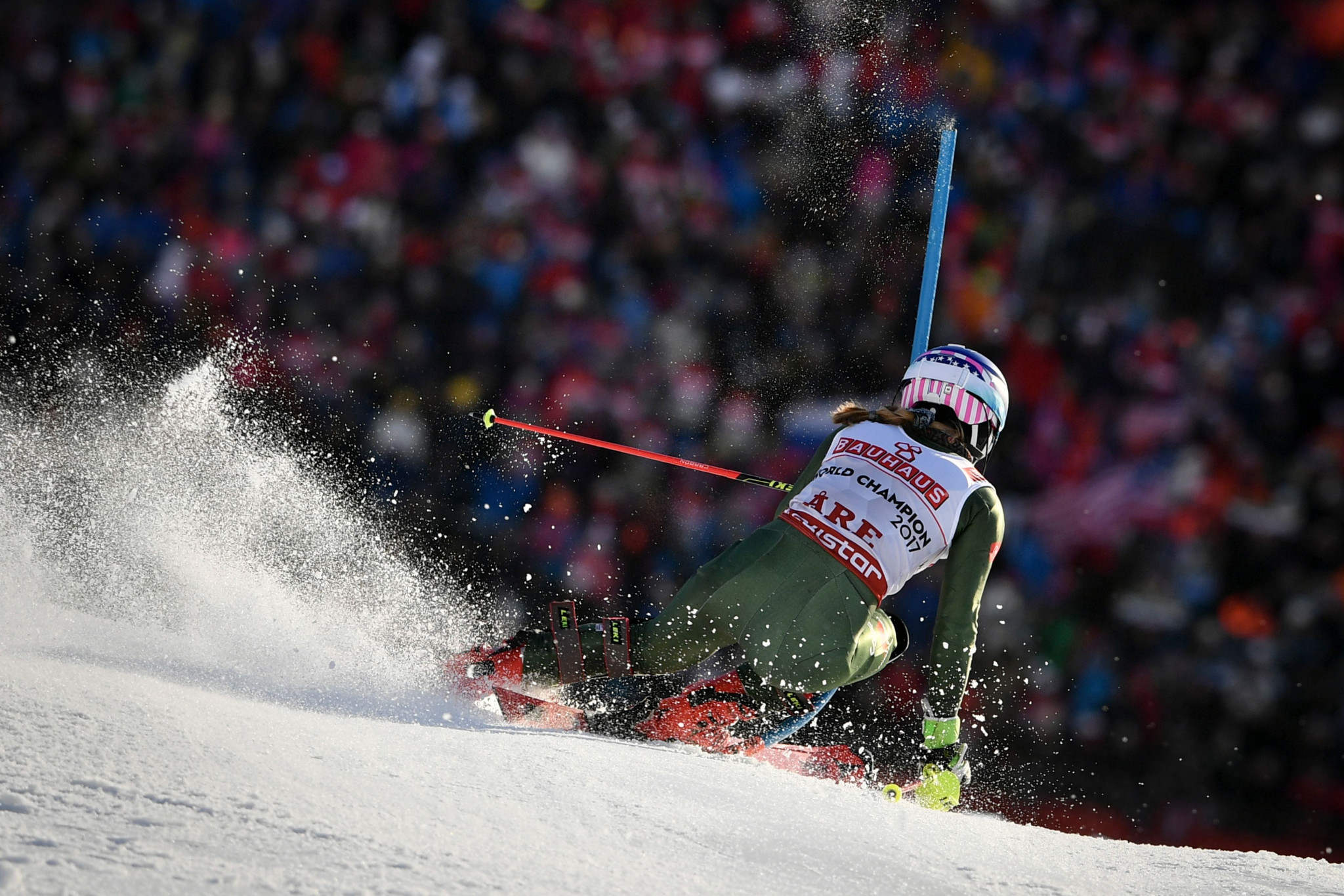 Mikaela Shiffrin impressed in the second run to move to the top of the standings ©Getty Images